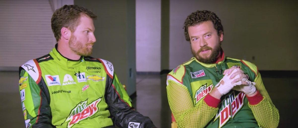 Danny McBride and Dale Earnhardt Jr. (Credit: Screenshot/YouTube Mountain Dew)