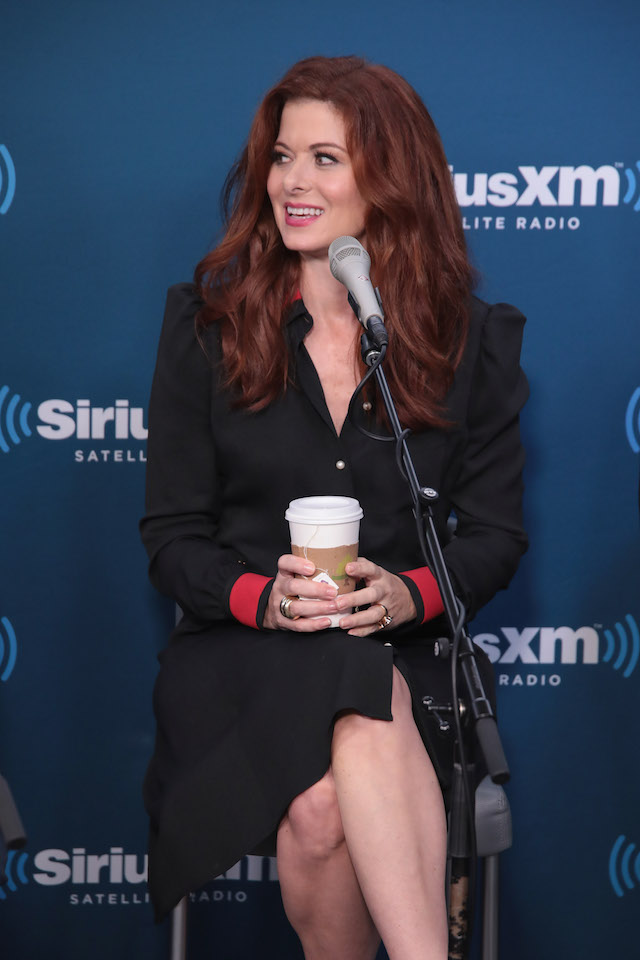"""NEW YORK, NY - SEPTEMBER 25: Actress Debra Messing takes part in SiriusXM's """"Town Hall"""" with the cast of """"Will & Grace"""" hosted by Andy Cohen (C) on September 25, 2017 in New York City. (Photo by Cindy Ord/Getty Images for SiriusXM)"""