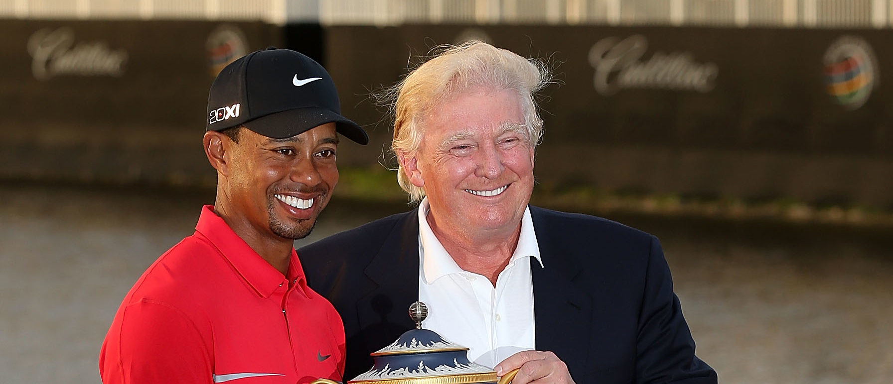 trump golfs with tiger woods  jack nicklaus in florida