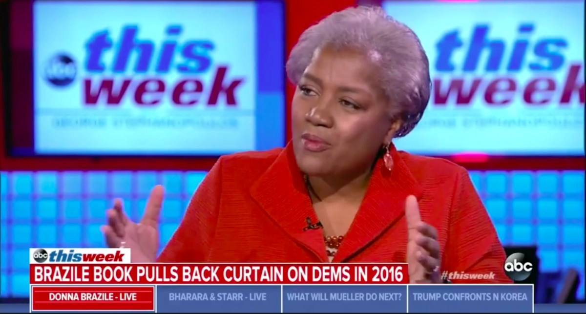 "Donna Brazile on ABC's ""This Week."" (Screenshot/ABC)"