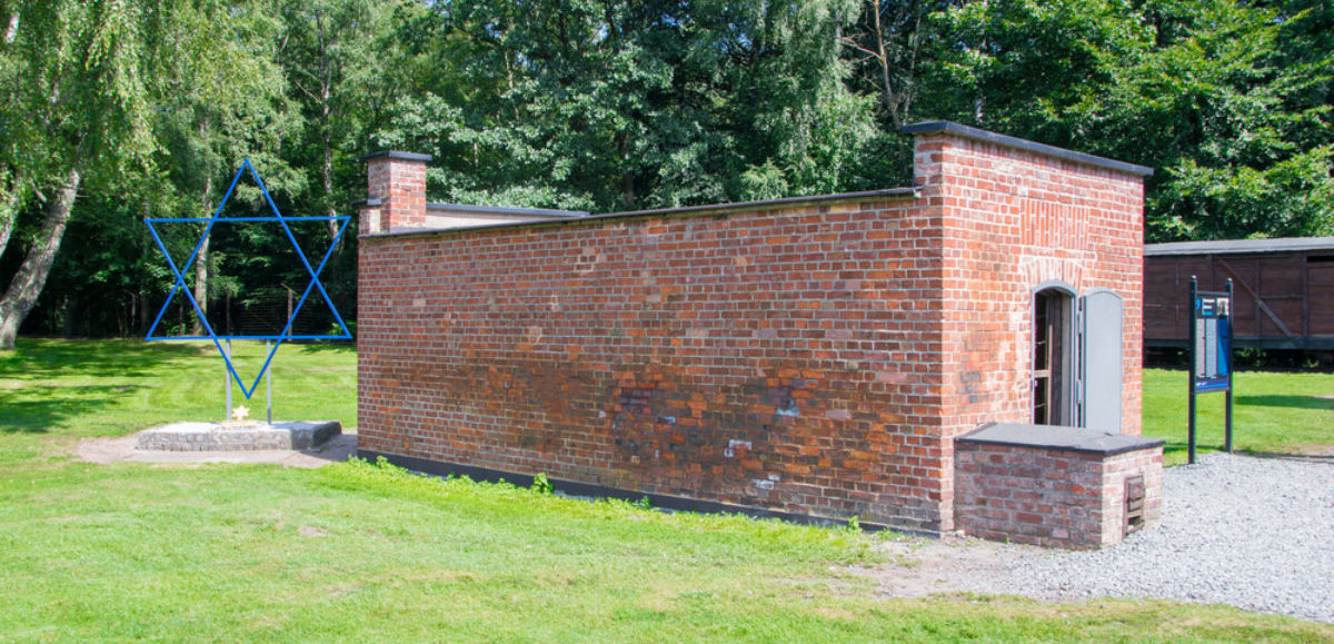 Gas chamber at Stutthof (shutterstock/Robson90)