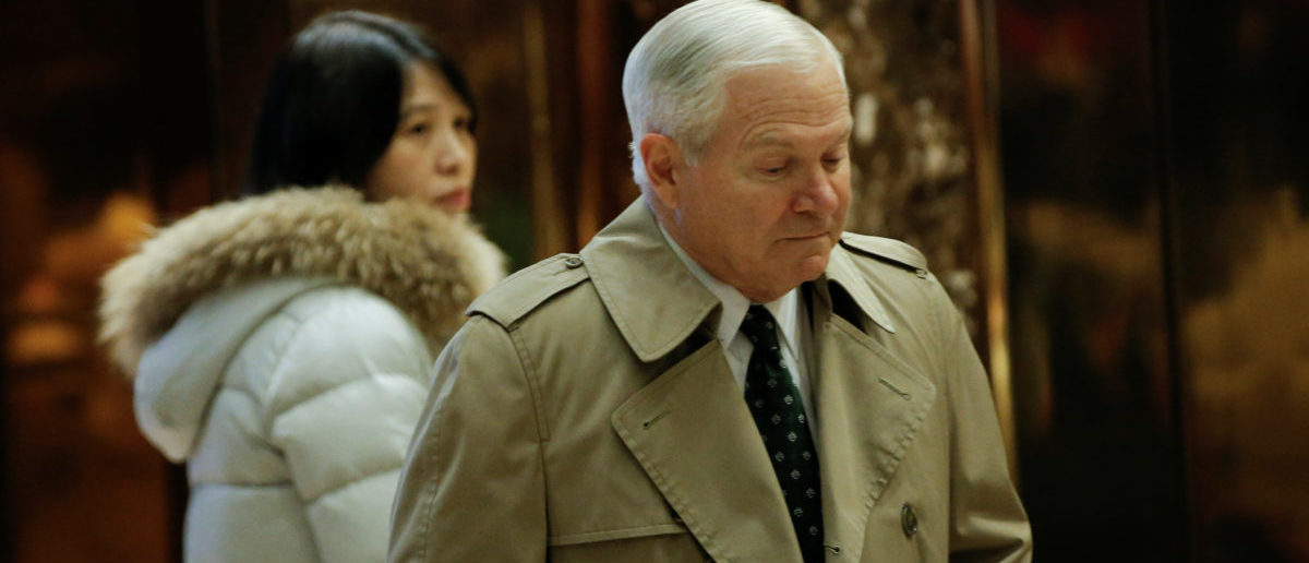 Former Defense Secretary Robert Gates arrives for a meeting with U.S. President-elect Donald Trump at Trump Tower in New York, U.S., December 2, 2016. REUTERS/Mike Segar - RC1B74F97030
