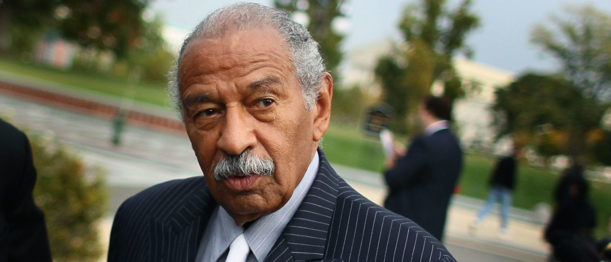 WASHINGTON, DC - OCTOBER 26:  U.S. Rep. John Conyers (D-MI) participates in a news conference at the U.S. Capitol October 26, 2011 in Washington, DC. Conyers called on the Joint Deficit Reduction Committee to preserve Medicare, Medicaid, and Social Security benefits when making their decision on cutting the deficit.  (Photo by Mark Wilson/Getty Images)