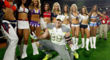 Watt having some fun after playing in the Pro Bowl in 2015. (Photo by Christian Petersen/Getty Images)