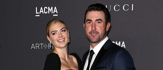 Kate Upton and MLB player Justin Verlander attend the 2016 LACMA Art + Film Gala honoring Robert Irwin and Kathryn Bigelow presented by Gucci at LACMA on October 29, 2016 in Los Angeles. (Photo by Frederick M. Brown/Getty Images)