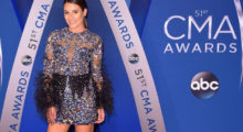 Lea Michele attending the CMA Awards at the Bridgestone Arena last night in Nashville. (Photo Credit/Getty Images)