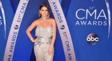 Marren Morris on the red carpet for the annual CMA Awards at the Bridgestone Arena on November 8, 2017 in Nashville, Tennessee.  (Photo by Michael Loccisano/Getty Images)
