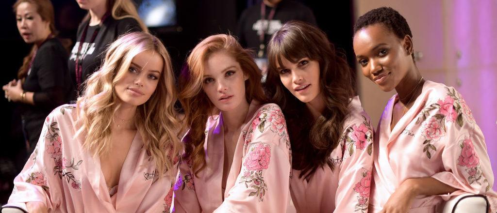 Frida Aasen, Alexinia Graham, Vanessa Moody and Herieth Paul during 2017 Victoria's Secret Fashion Show In Shanghai. (Photo by Matt Winkelmeyer/Getty Images for Victoria's Secret)