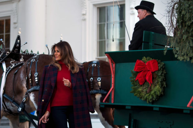 Melania Stunned At Wh Christmas Tree Event The Daily Caller