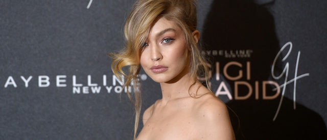 "LONDON, ENGLAND - NOVEMBER 07: Gigi Hadid attends the Gigi Hadid X Maybelline party held at ""Hotel Gigi"" on November 7, 2017 in London, England. (Photo by Stuart C. Wilson/Getty Images)"
