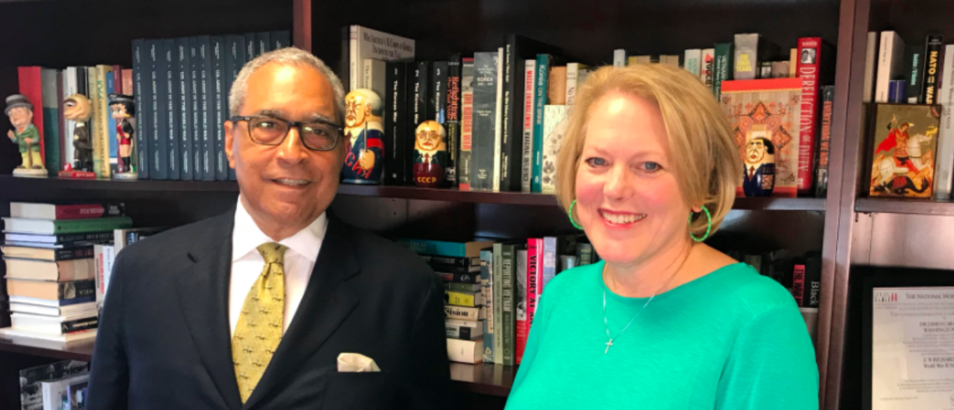 Ginni Thomas interview with Shelby Steele (TheDCNF/Sean Moody)