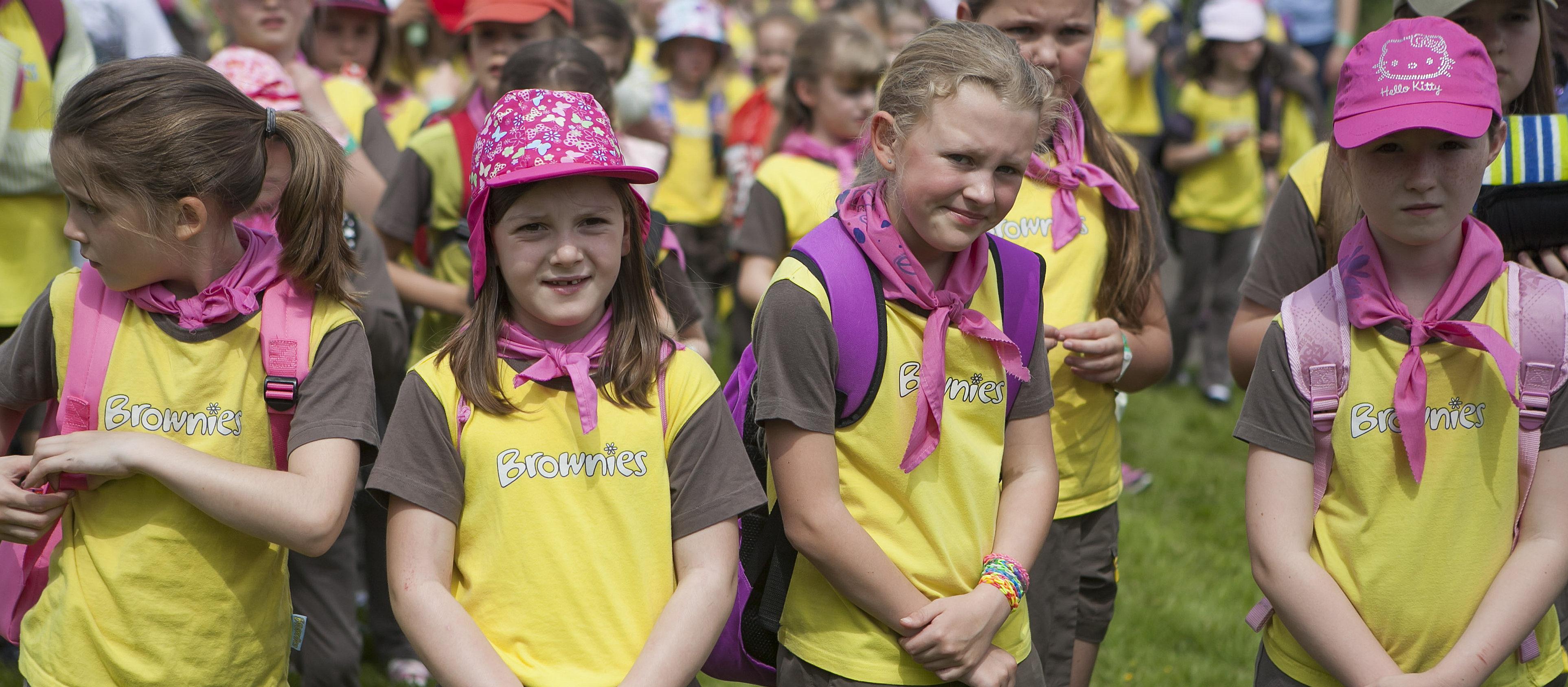 A photo of Girlguiding U.K. members. (Photo: Shutterstock/Elena Rostunova)