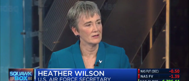 Heather Wilson, secretary of the U.S. Air Force (Photo: Screenshot/CNBC)