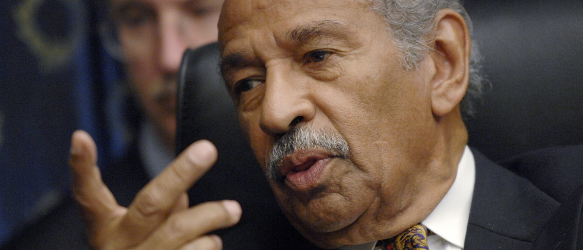"Committee chairman Rep. John Conyers (D-MI) holds a House Judiciary Committee hearing on the George W. Bush presidency, called ""Executive Power and Its Constitutional Limitation"", on Capitol Hill in Washington, July 25, 2008. REUTERS/Jonathan Ernst"