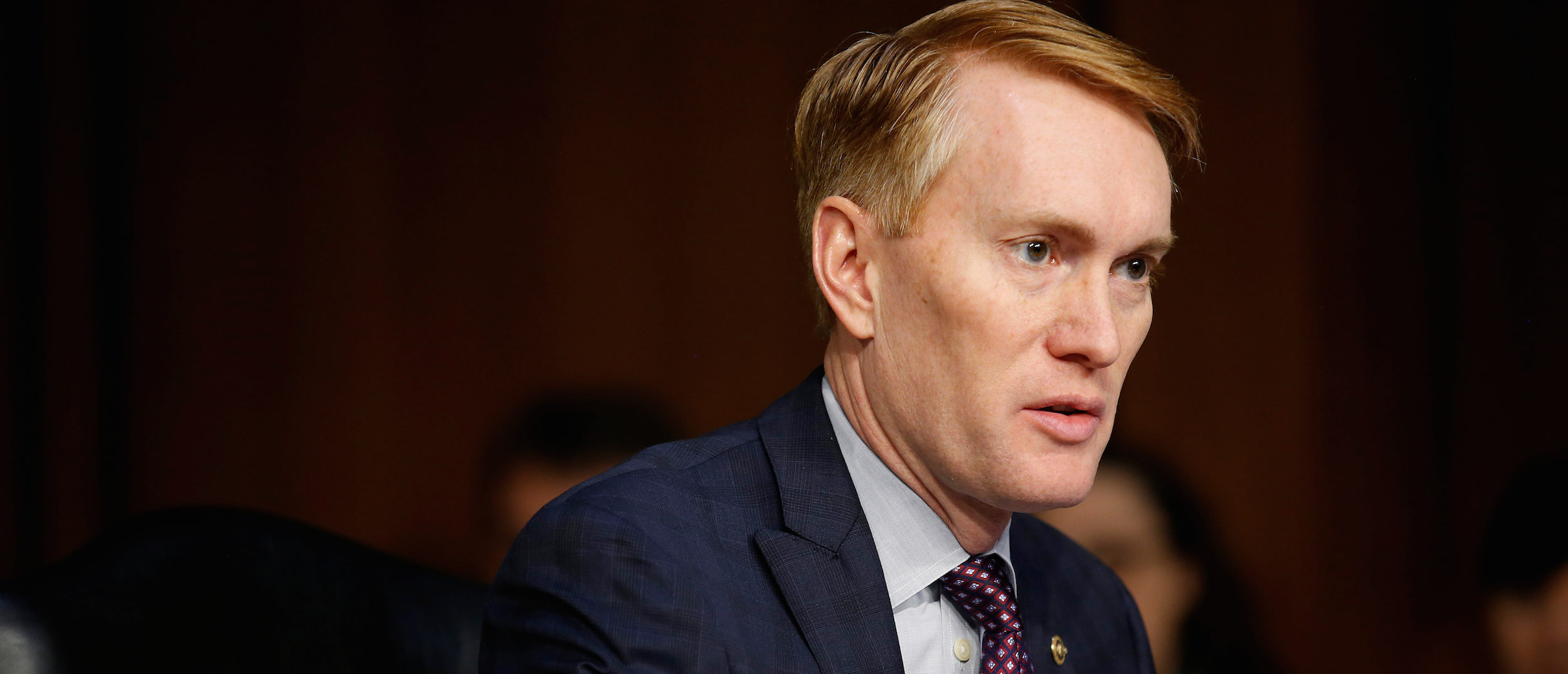 Senator James Lankford (R-OK) speaks during Senate Intelligence Committee hearing to answer questions related to Russian use of social media to influence U.S. elections, on Capitol Hill in Washington, November 1, 2017. REUTERS/Joshua Roberts