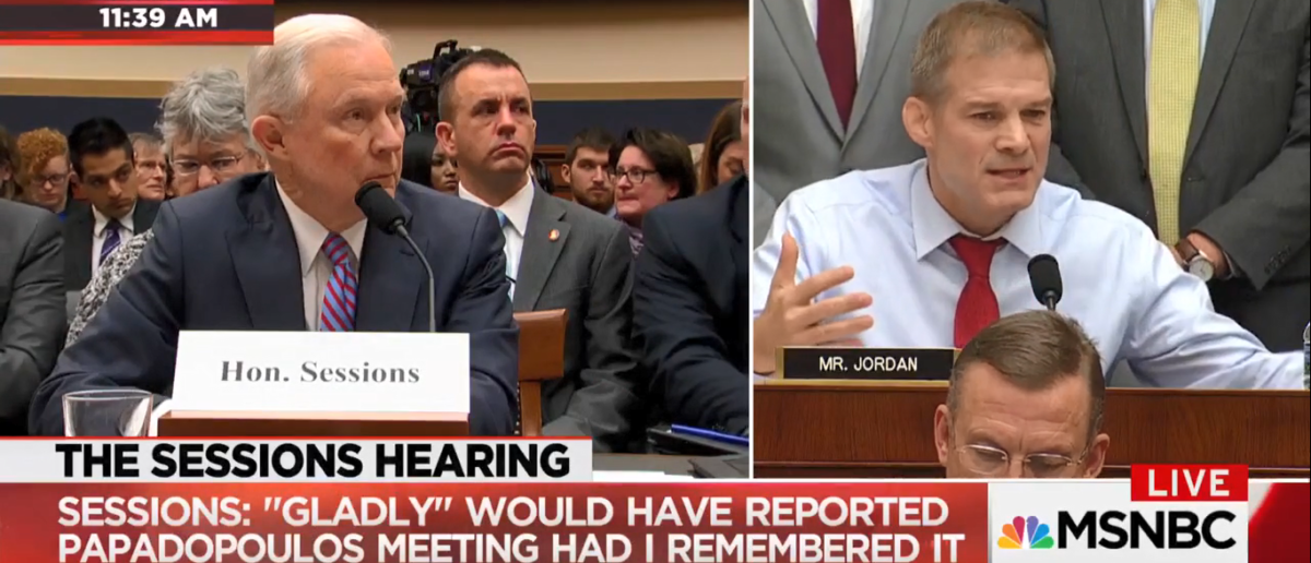 Jim Jordan Grills Jeff Sessions 11-14-17 (Screenshot-MSNBC)