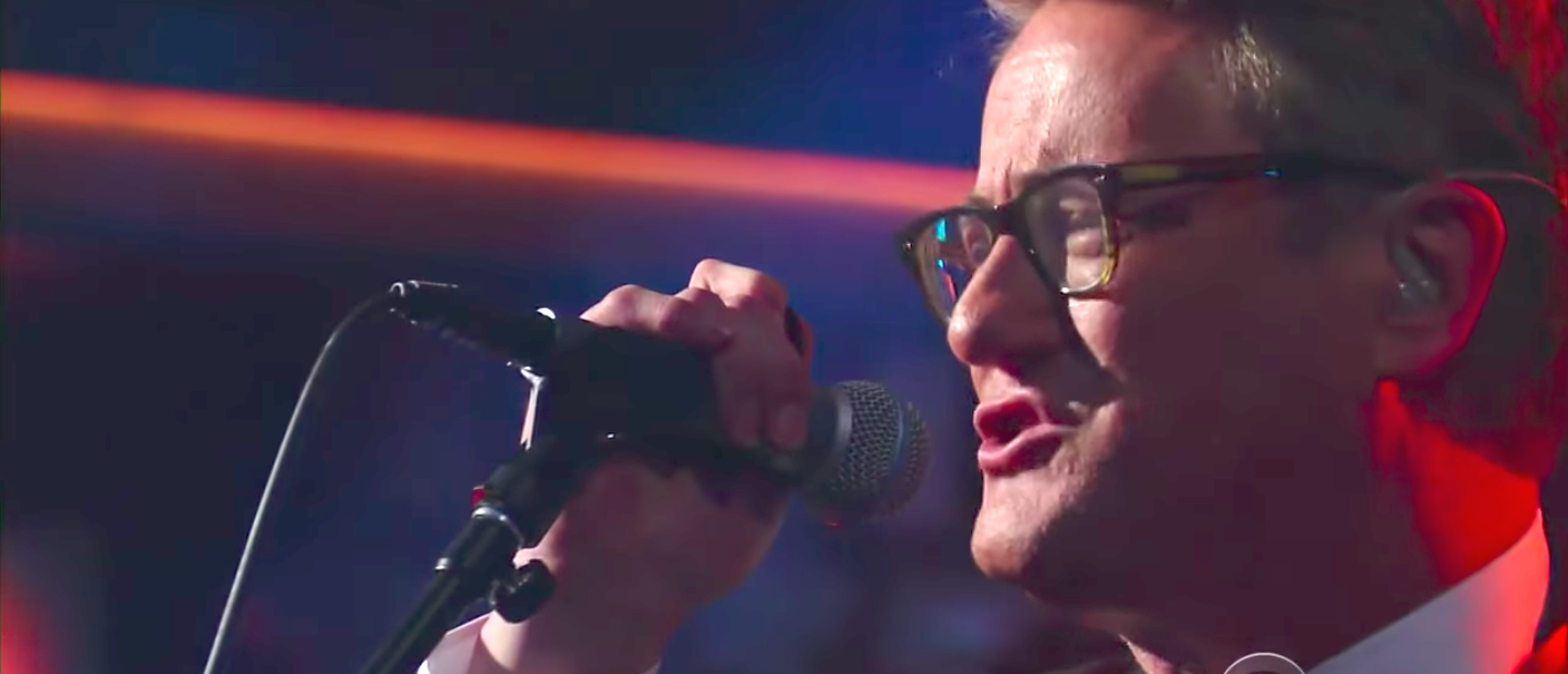 MSNBC host Joe Scarborough performs on The Late Show with Stephen Colbert (YouTube screengrab/The Late Show with Stephen Colbert)
