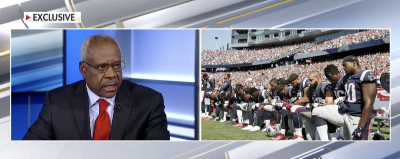 Justice Clarence Thomas on Fox News in Nov. 2017. (Screenshot/Fox News)