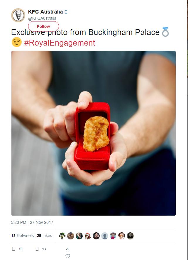 Twitter Kfc Australia Ring Engagement Ring
