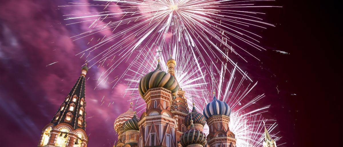 Kremlin fireworks Shutterstock/VLADJ55