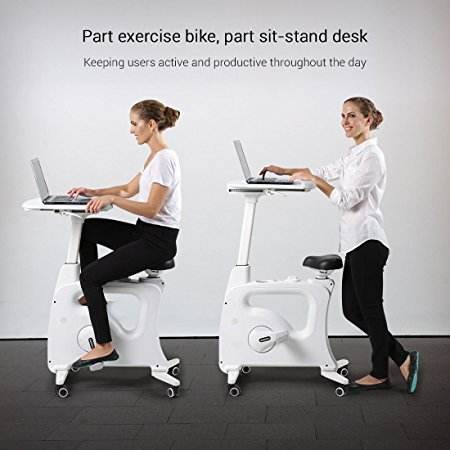 Normally $500, this sit-stand-cycle desk is $100 off with this code (Photo via Amazon)