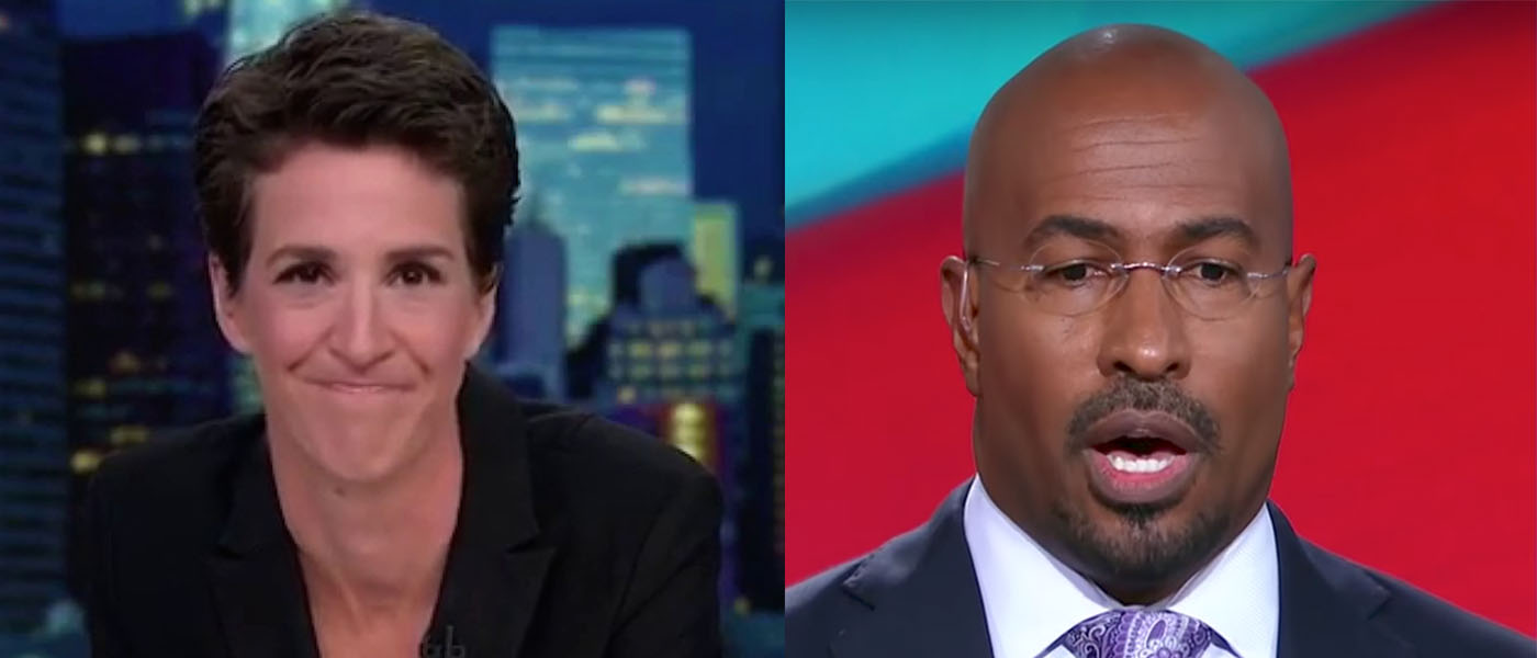 Maddow and Van Jones CNN MSNBC Youtube screenshots