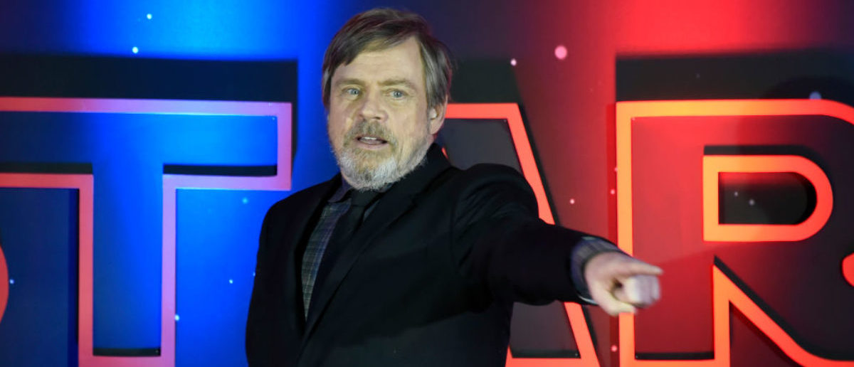 "Mark Hamill speaks during a red carpet for ""Star Wars: The Last Jedi"" in Mexico City on November 20, 2017. (Photo: ALFREDO ESTRELLA/AFP/Getty Images)"
