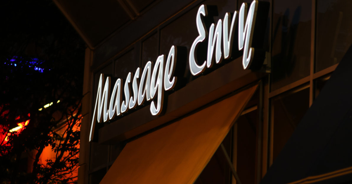 Bethesda, MD - September 20, 2017: This Massage Envy building is located on Arlington Road. (Photo: Shutterstock/ Nicole S Glass)