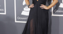 Country singer Miranda Lambert arrives at the 55th annual Grammy Awards in Los Angeles, California February 10, 2013.  REUTERS/Mario Anzuoni (UNITED STATES  - Tags: ENTERTAINMENT)  (GRAMMYS-ARRIVALS) - TB3E92B07I680