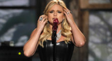 "Miranda Lambert performs ""Over You"" at the 47th annual Academy of Country Music Awards in Las Vegas, Nevada, April 1, 2012.   REUTERS/Steve Marcus (UNITED STATES  - Tags: ENTERTAINMENT)  (ACM-SHOW) - LM2E84208A901"