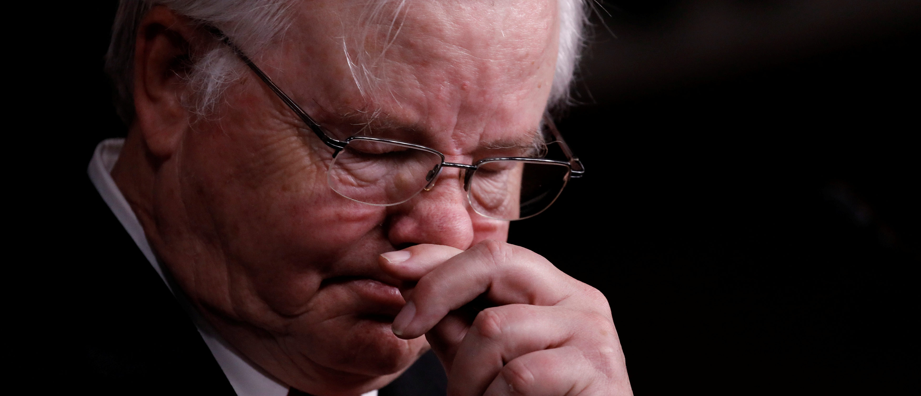 Rep. Joe Barton (R-TX), manager of the Republican Congressional Baseball team, speaks at a news conference about the recent shooting in Alexandria, Virginia, on Capitol Hill in Washington, U.S., June 14, 2017. REUTERS/Aaron P. Bernstein