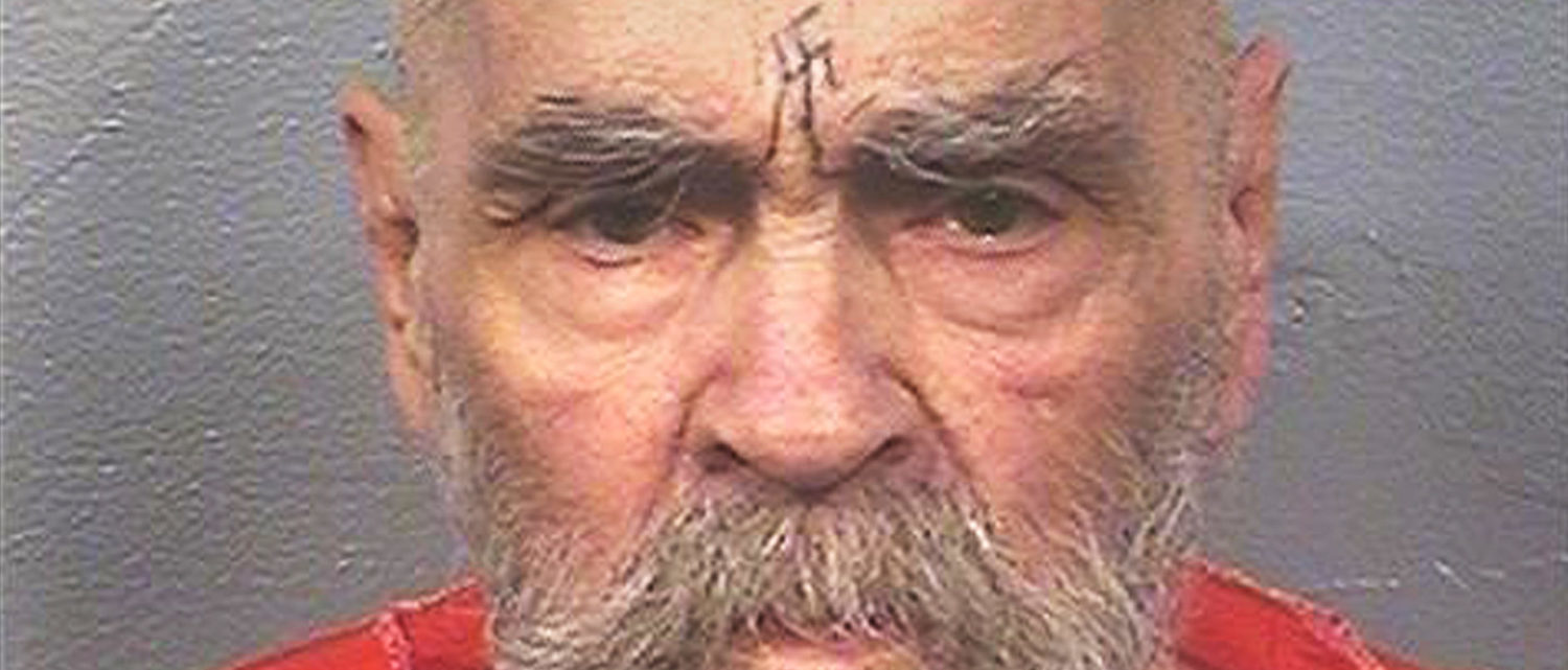 """Charles Manson, the cult leader who sent followers known as the """"Manson Family"""" out to commit gruesome murders, currently being held at California State Prison, Corcoran, California, U.S. is seen in this August 2017 photo released on November 16, 2017. Courtesy California Department of Corrections and Rehabilitation/Handout via REUTERS ATTENTION EDITORS - THIS IMAGE WAS PROVIDED BY A THIRD PARTY. THIS PICTURE WAS PROCESSED BY REUTERS TO ENHANCE QUALITY. AN UNPROCESSED VERSION WAS PROVIDED SEPARATELY - RC1AC2246220"""