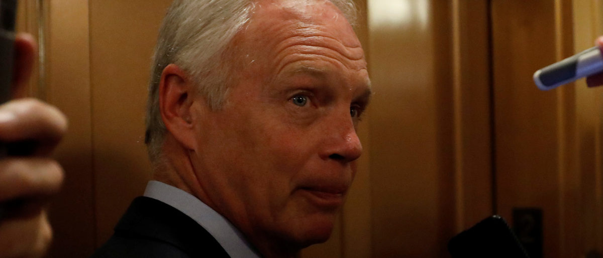"Senator Ron Johnson (R-WI) speaks with reporters after the failure of the ""skinny repeal"" health care bill on Capitol Hill in Washington, U.S., July 28, 2017. REUTERS/Aaron P. Bernstein - RC15730C72F0"
