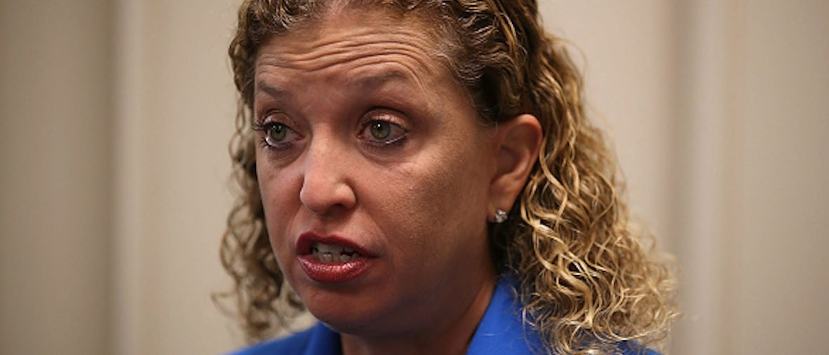 HOLLYWOOD, FL - OCTOBER 31: Rep. Debbie Wasserman Schultz (D-FL) speaks to reporters about Special Counsel Robert Mueller and the events that unfolded in Washington, DC after a press conference at the Broward Regional Health Planning Council about the Affordable Care Act on October 31, 2017 in Hollywood, Florida. Rep. Wasserman Shultz addressed the 2018 Open Enrollment period that begins tomorrow. The deadline to sign up was January 31, 2018 but the Trump administration has cut it back to December 15, 2017. (Photo by Joe Raedle/Getty Images)