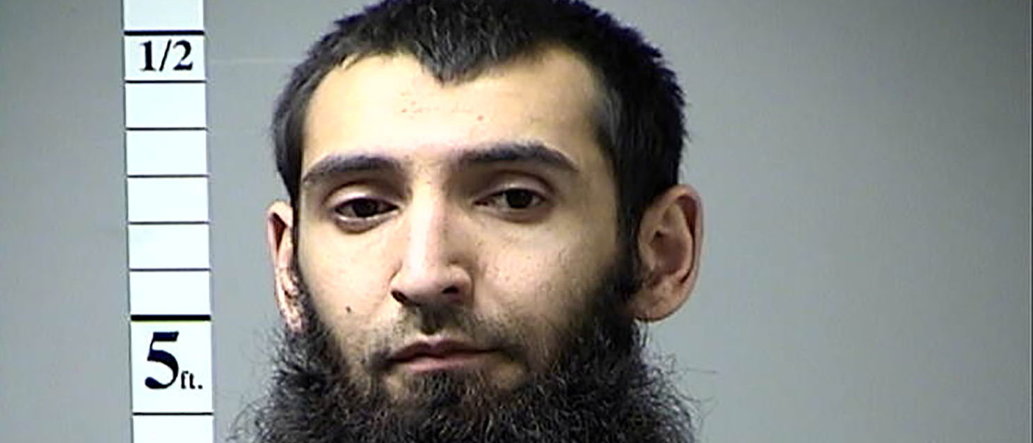 Sayfullo Saipov, the suspect in the New York City truck attack is seen in this handout photo released November 1, 2017. St. Charles County Department of Corrections/Handout via REUTERS