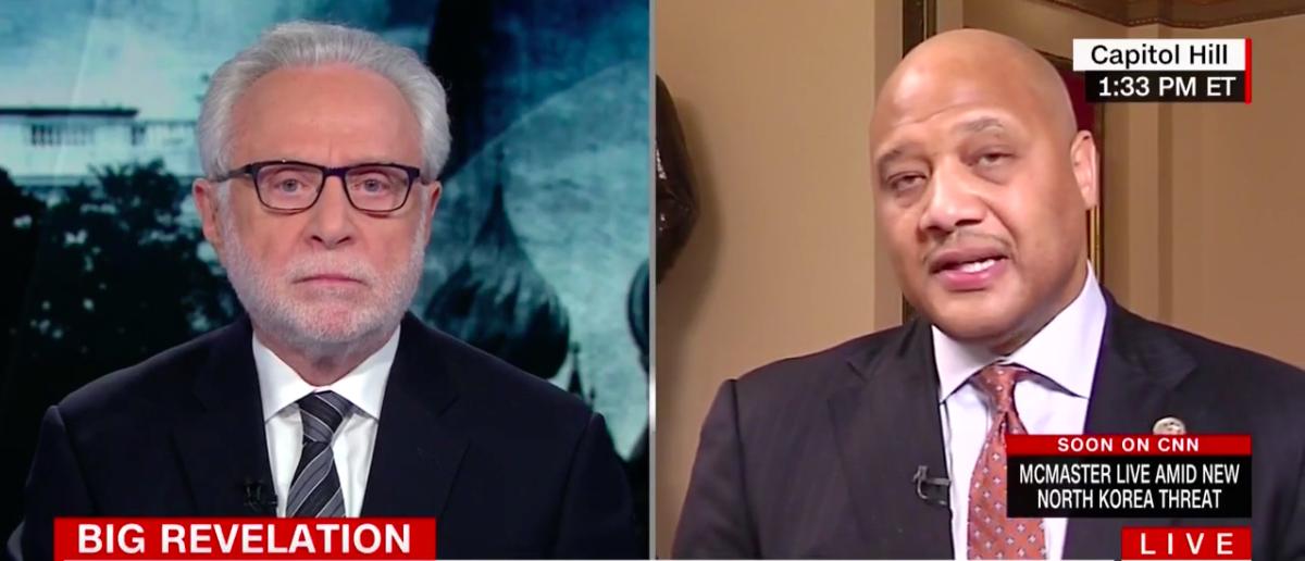 Screen Shot Wolf Blitzer and Andre Carson (CNN: Nov 2, 2017)