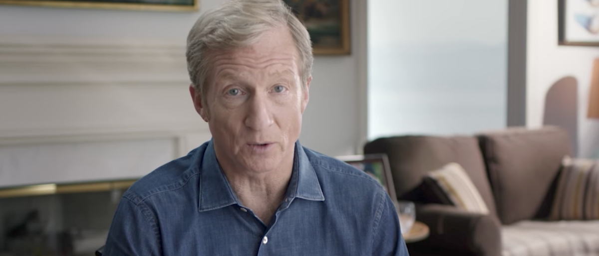 "Tom Steyer, from ""Impeach Trump"" ad., is shown here. (Photo: Youtube screen grab)"
