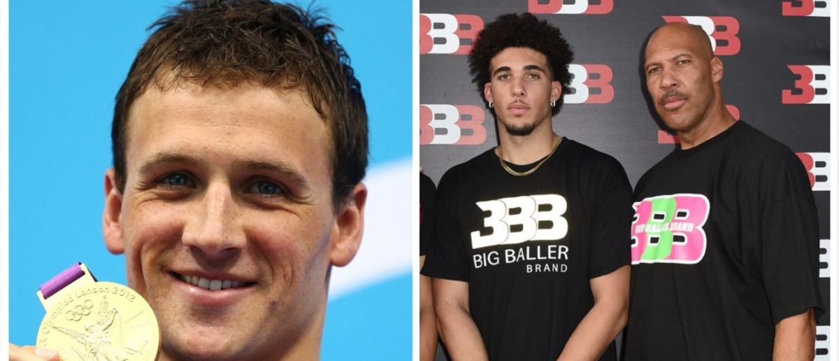 Ryan Lochte, LiAngelo Ball (Credit: Getty Images)