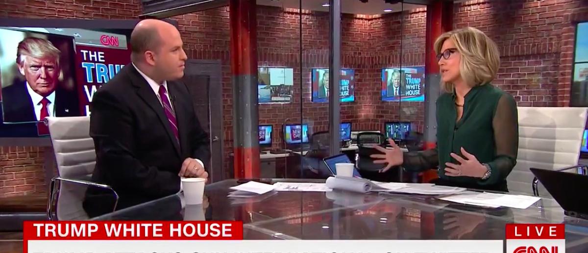 Screen Shot Brian Stelter and Alisyn Camerota (CNN: Nov 27, 2017)