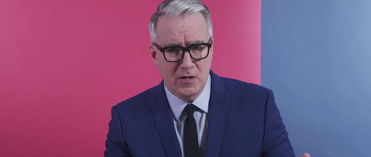 """Keith Olbermann on his show, """"The Resistance."""" (Youtube screen grab)"""