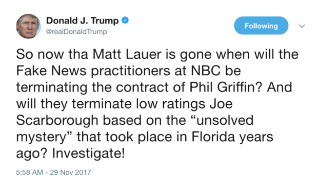 Trump Suggests Joe Scarborough Murdered His Intern In Florida