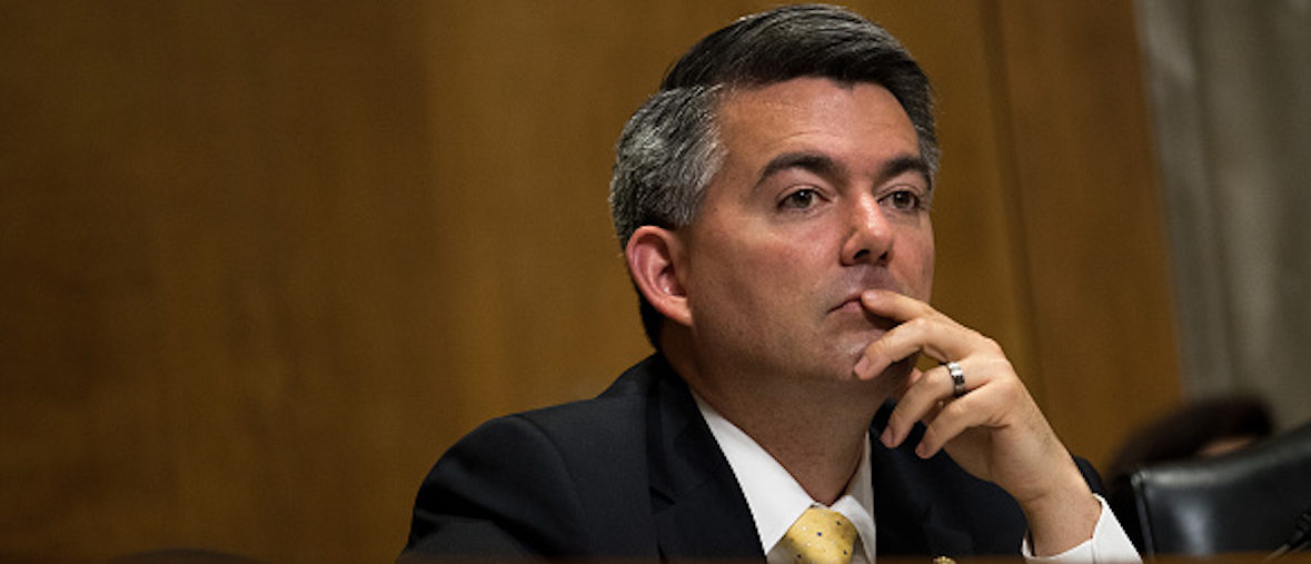 WASHINGTON, DC - MAY 26: Sen. Cory Gardner (R-CO) listens to testimony during a Senate Foreign Relations Committee hearing concerning cartels and the U.S. heroin epidemic, on Capitol Hill, May 26, 2016, in Washington, DC. According to the U.S. Centers for Disease Control and Prevention, from 2002 to 2013 the rate of heroin-related deaths quadrupled in the United States, with most of the increase coming after 2010. (Photo by Drew Angerer/Getty Images)