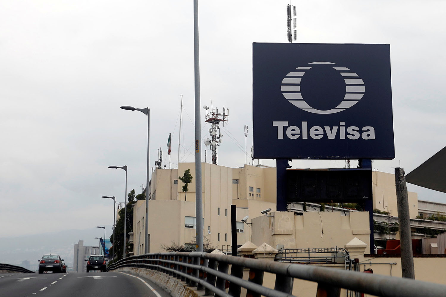 The logo of broadcaster Televisa is seen outside its headquarters in Mexico City, Mexico, July 10, 2017. REUTERS/Edgard Garrido