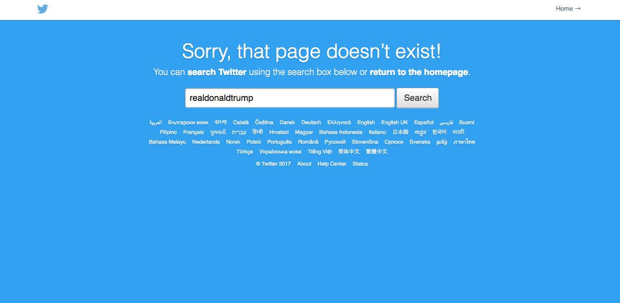 Trump Twitter Screenshot