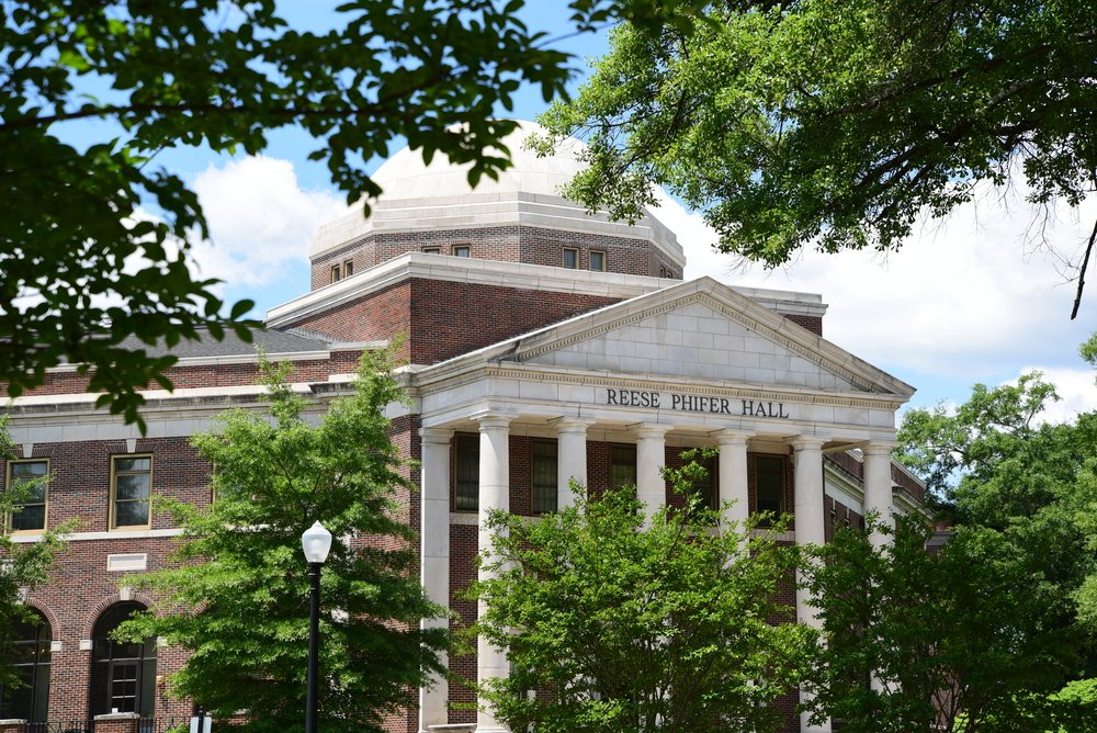 Reese Phifer Hall on the University of Alabama campus houses the School of Communication. June 2016 (Shutterstock/clayton harrison)