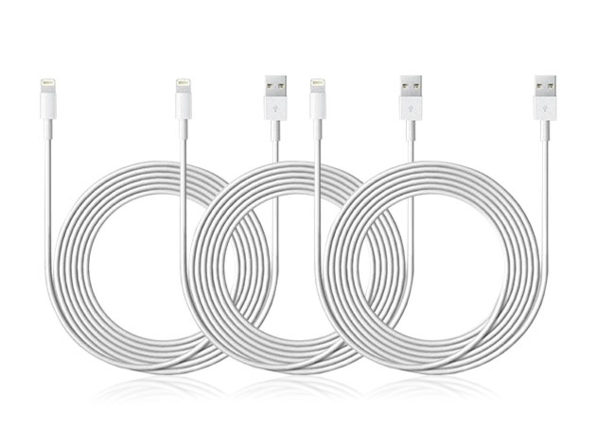 Originally $100, this 3-pack of lightning cables is 83 percent off