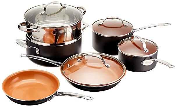 Normally $200, this 10-piece cookware set is 63 percent off today (Photo via Amazon)