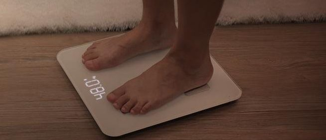 This person is weighing themselves in kilograms (Photo via Amazon)