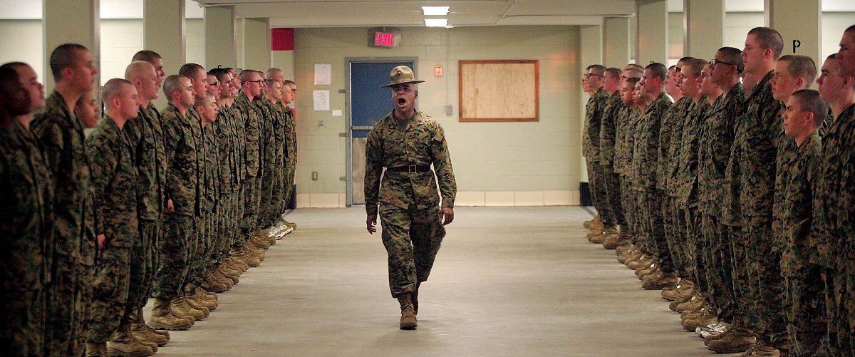 Marine Recruits Endure Basic Training On Parris Island