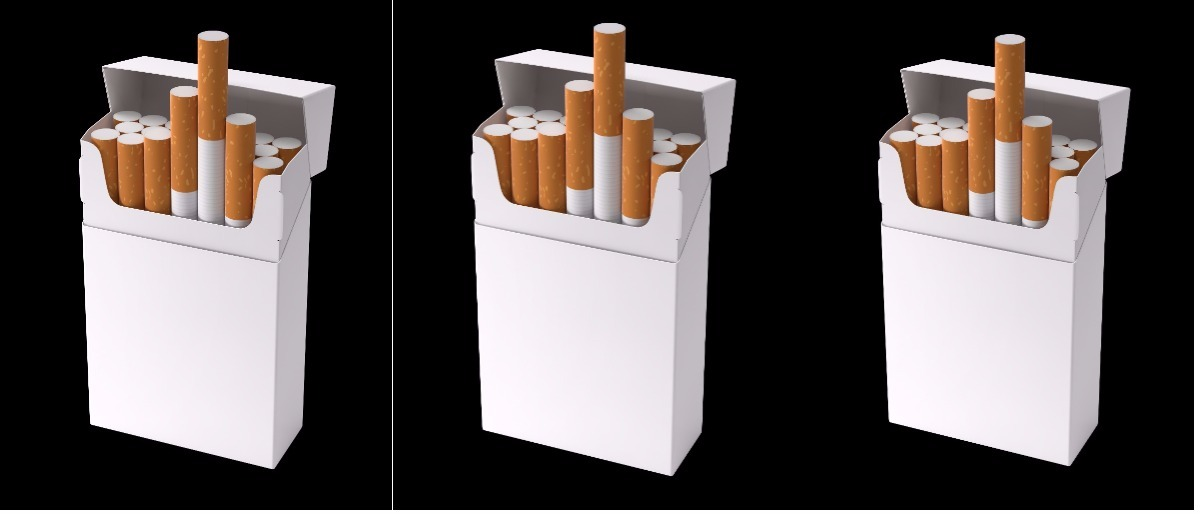 plain packaging cigarettes collage Shutterstock/BlackCat Imaging